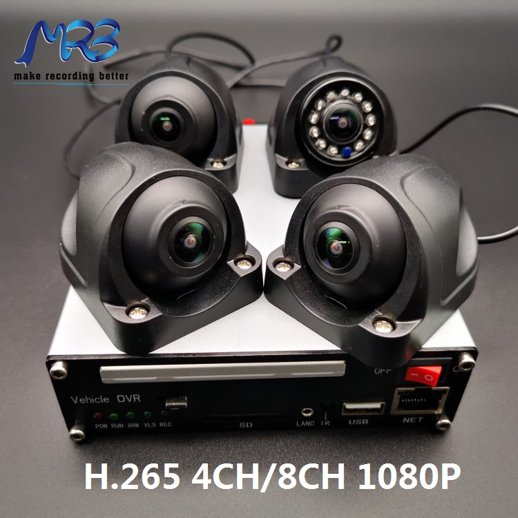 MRB 4 channel H.265 1080P MDVR taxi dvr for taxi camera CCTV system SSD full frame with 4G wifi GPS RJ45